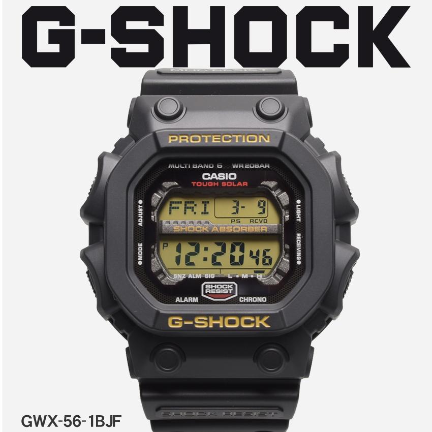 【最大500円引きクーポン】【お取り寄せ商品】 送料無料 G-SHOCK ジーショック CASIO カシオ 腕時計 ブラックジーエックスシリーズ GX SERIESGXW-56-1BJF メンズ 【メーカー正規保証1年】