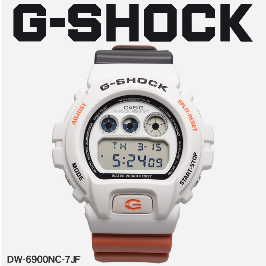 【最大500円引きクーポン】【お取り寄せ商品】 送料無料 G-SHOCK ジーショック CASIO カシオ 腕時計 レッドDW-6900DW-6900NC-7JF メンズ 【メーカー正規保証1年】