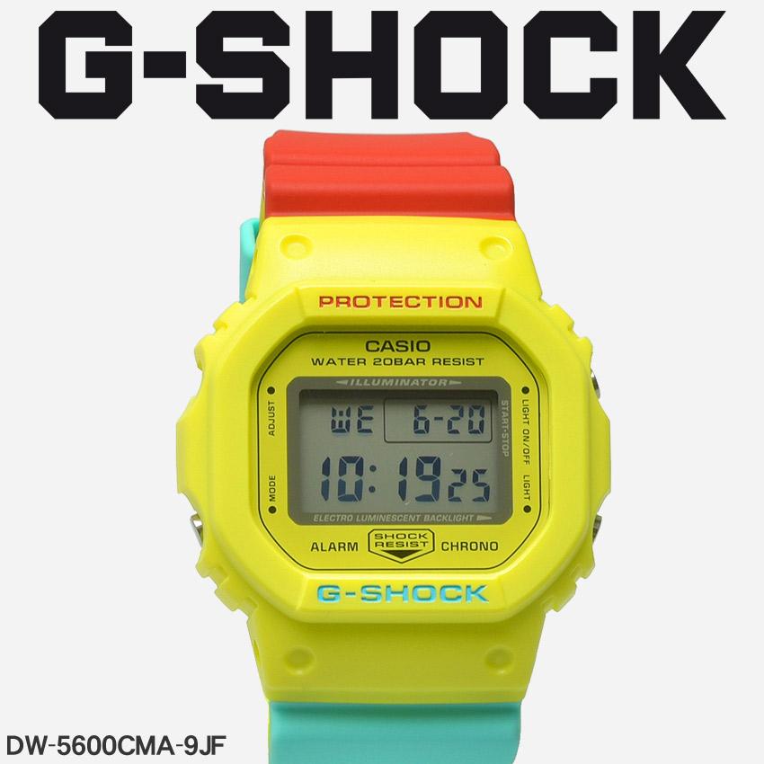 【お取り寄せ商品】 送料無料 G-SHOCK ジーショック CASIO カシオ 腕時計 ブラックブリージー ラスタカラー BREEZY RASTA COLORDW-5600CMA-9JF メンズ 【メーカー正規保証1年】
