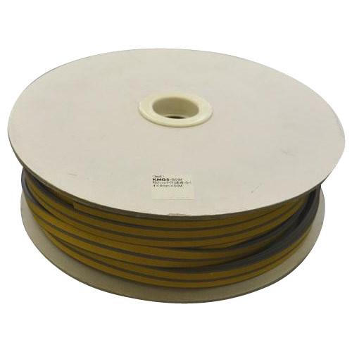 光 (HIKARI) 戸当り防音クッションテープ粘着付グレーP型5.5×18mm KPG6-50W  50m【同梱・代引き不可】
