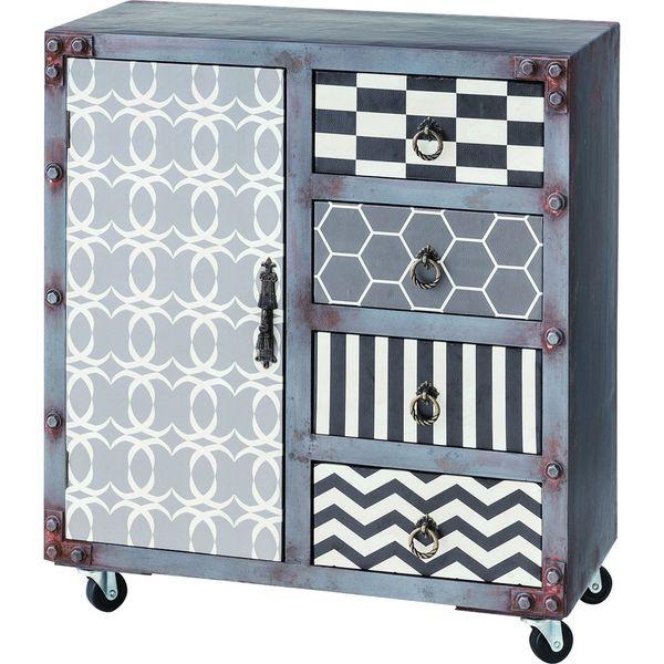 ワイドチェスト 棚 引き出し 収納 AZUMAYA JAM-235 おしゃれ デザイン家具 インテリア 家具【同梱不可】