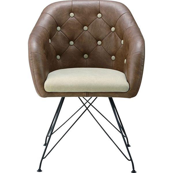 パーソナルチェア いす イス 椅子 チェア AZUMAYA KGI-108BR BR おしゃれ デザイン家具 インテリア 家具【同梱不可】