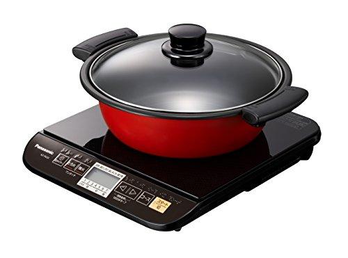 卓上型IH調理器 Panasonic パナソニック KZ-PG33-K ブラック 1口 専用鍋付属 IHクッキングヒーター