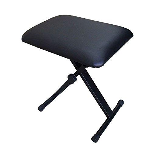 キーボード椅子 市販 折り畳みチェア 日本全国 送料無料 キーボードベンチ ピアノ椅子 SunRuck ブラック3段階高さ調節折りたためるキーボードチェア SR-KST01
