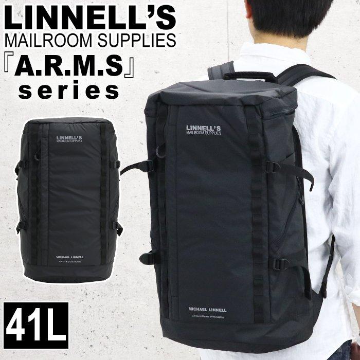 [ポイント10倍] マイケルリンネル MICHAEL LINNELL リュック リュックサック デイパック バックパック スクエア ビジネス メンズ レディース 男女兼用 黒リュック 大容量 41L アームズ ARMS MLAC-03