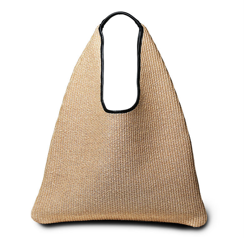 Product Made In Arron Basket Bag Raffia Lady Tote Alone Triangle Magazine Publication Aaron Italy