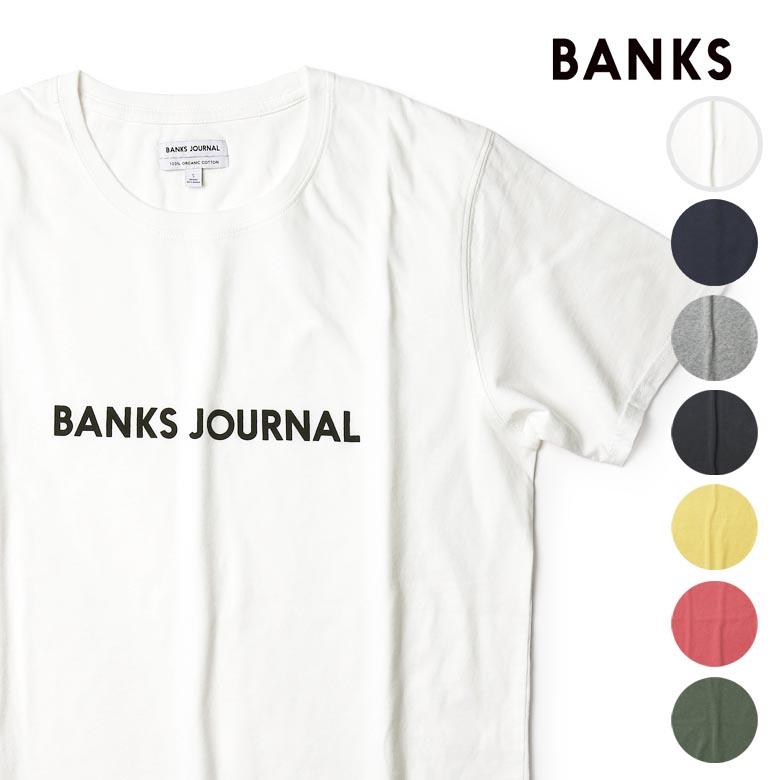 【年内お届け】【20%offクーポン】バンクス ロゴ Tシャツ BANKS JOURNAL 半袖 定番 メンズ プリントTシャツ オーガニックコットン100% BANKS【レ15】