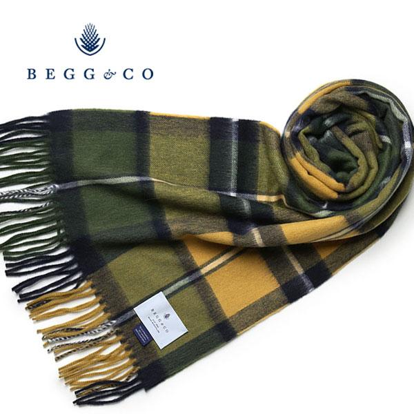 【スーパーセール】Begg&Co ストール ウールxアンゴラ チェック ベグアンドコー ベグ モヘア マフラー レディース スコットランド製【送料無料】 【あす楽対応】