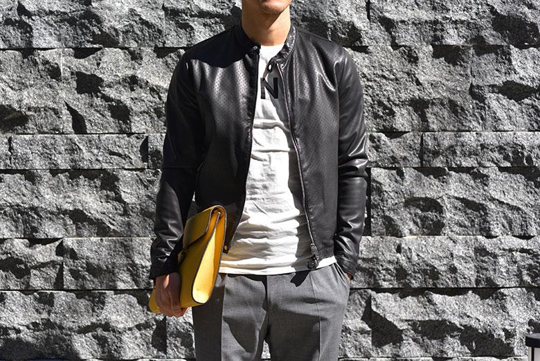 タリアトーレ パンチング レザー ジャケット OLIVER 19SS 春夏 新作 イタリア製 メンズ TAGLIATORE  【あす楽対応】