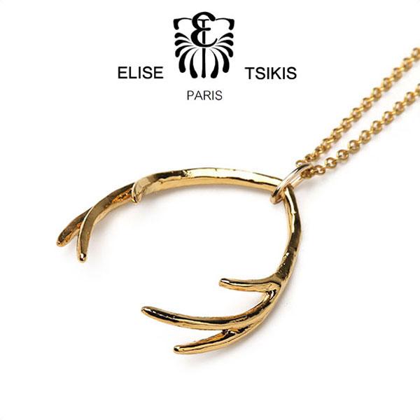 【スーパーセール】ELISE TSIKIS PARIS パリ発 鹿の角 ネックレス ゴールド EREH フランス製 エリーゼ アクセサリー ギフト【送料無料】【あす楽対応】