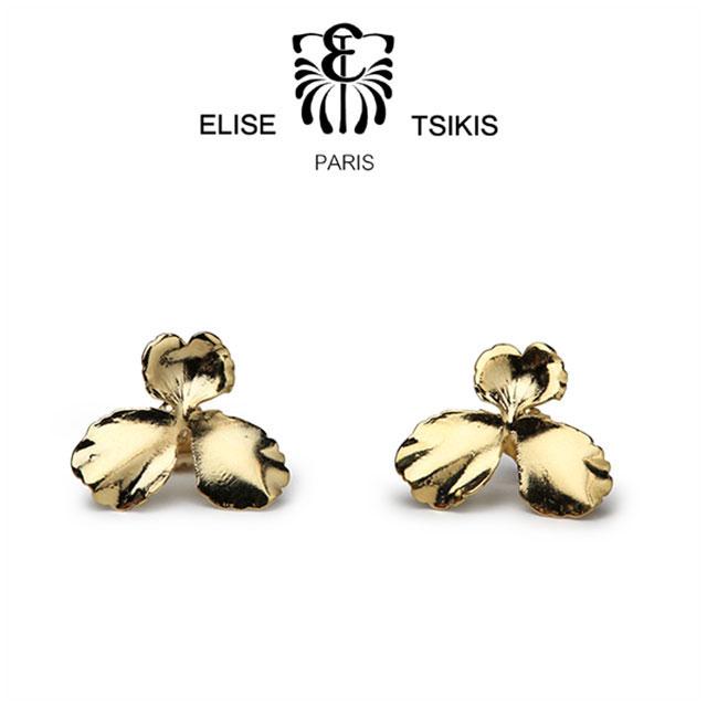 【100名限定5%OFF】ELISE TSIKIS PARIS フラワー ピアスゴールド PENSEE SMALL フランス製 エリーゼ アクセサリー ギフト【あす楽対応】