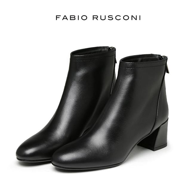 FABIO RUSCONI ラウンドトゥが大人な可愛いショートブーツ ファビオルスコーニ ブーツ ショートブーツ ブーティ ヒール5.5cm イタリア製 LENA1065 39 ルスコーニ 靴 ファビオ 送料無料 あす楽対応 大きいサイズ 小さいサイズ 期間限定送料無料 送料無料新品 レディース