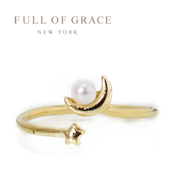 【年内お届け】【30%offクーポン】FULL OF GRACE リング 指輪 パール ムーン スターR009 フルオブグレイス レディース チビジュエルズ 姉妹ブランド 【レ15】