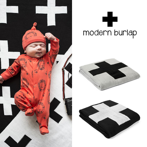 Viajero Honten Modern Burlap Modern Bar Wrap Reversible Blanket