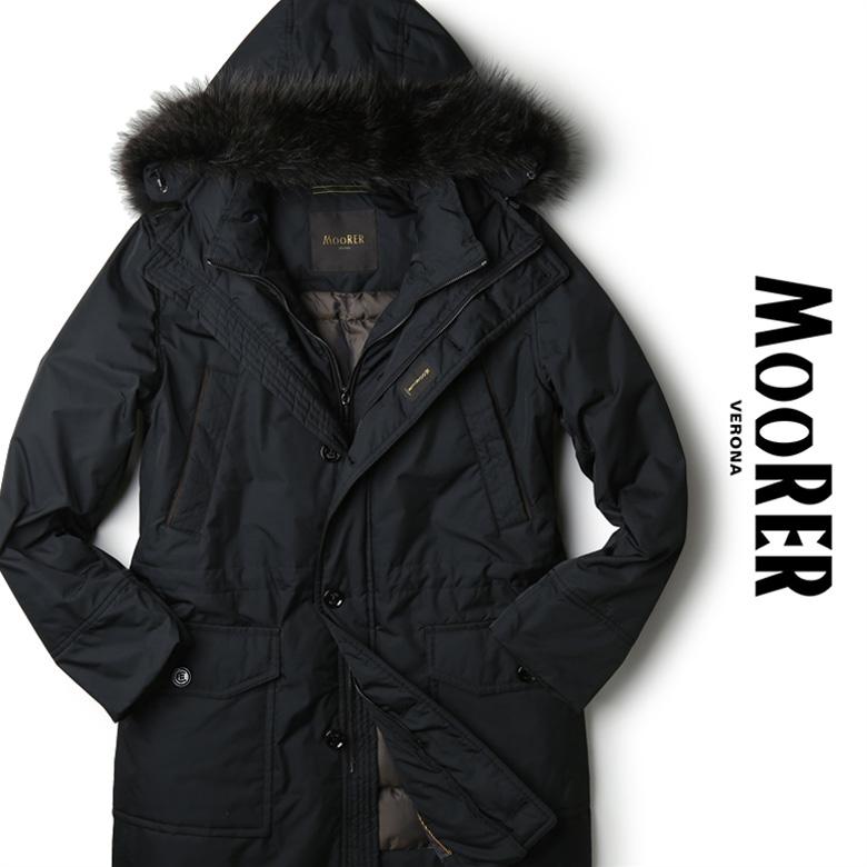【スーパーセール】MOORER ムーレー ダウン N-3B 完全防寒 レイヤード ミドル丈 ナイロン BALDO GF ブラック イタリア製 ダウン ダウンジャケット メンズ 【送料無料】 【あす楽対応】