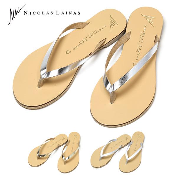 33ec91b7d78cb NICOLAS LAINAS leather Sandals flip flops Beach Sandals flip flop FLIP FLOP  Nicholas Linas ladies simple made in Greece cute shower Sandals 10P01Oct16