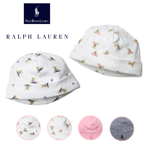 Child baby gift of the Ralph Lauren baby hat beanie cotton knit baby boy  woman 2ce350d0322