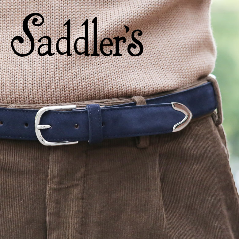 サドラーズ スエード ベルト 3cm カーフ シンプルバックル SG02 プンターレ Saddler's メンズ 【レ15】【あす楽対応】
