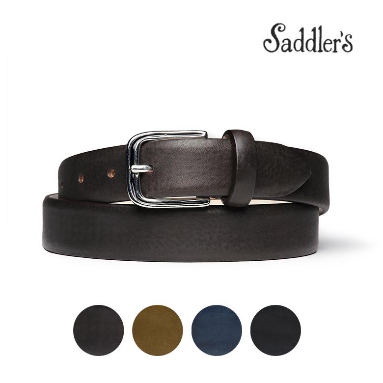 【スーパーセール】サドラーズ ベルト カーフレザー マット 3cm カーフ シンプル バックル Saddler's メンズ 【送料無料】【あす楽対応】