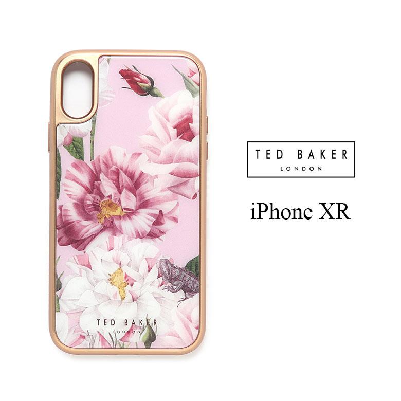 【年内お届け】【15%offクーポン】テッドベイカー iPhone XR ガラスタッチ ケース 花柄 アイフォン アイフォンケース ブランド iphonexr セレブ TED BAKER テッドベーカー【レ15】