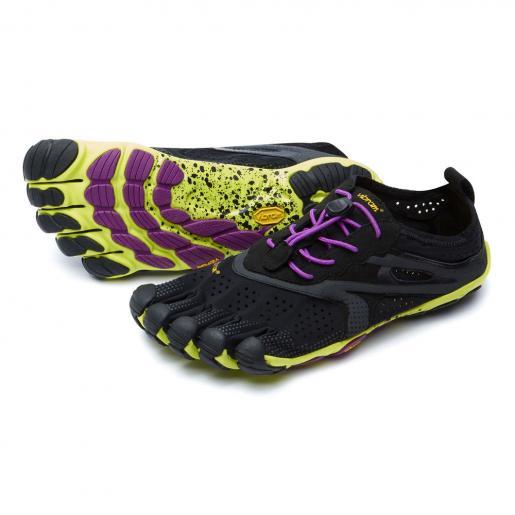 Vibram FiveFingers ビブラムファイブフィンガーズ レディース V-Run Black-Yellow-Purple / ブラック-イエロー-パープル 16W3105
