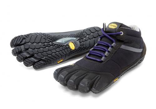 Vibram FiveFingers ビブラムファイブフィンガーズ レディース TREK ASCENT INSULATED Black-Purple / ブラック-パープル 15W5303