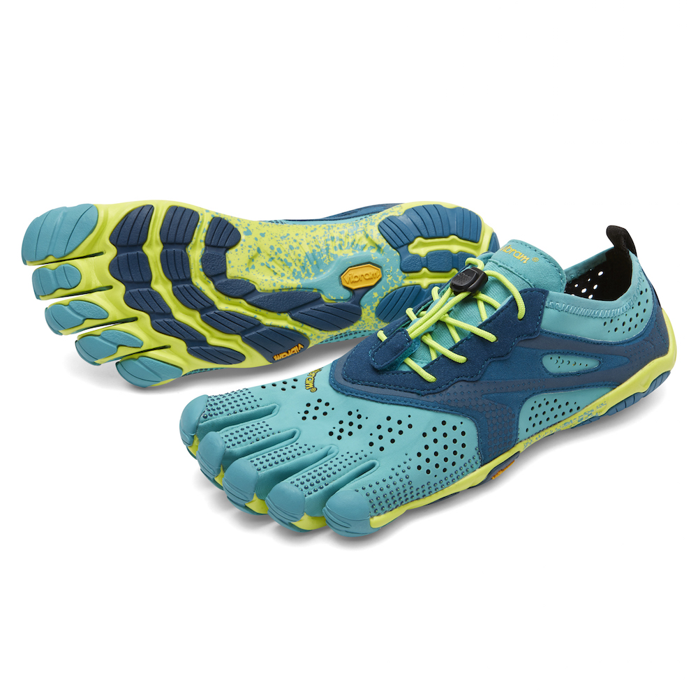 【スーパーSALE限定20%OFF】ビブラム Vibram ファイブフィンガーズ レディース V-Run Teal - Navy / ティール - ネイビー 《五本指 シューズ FiveFingers ベアフット ランニング ウォーキング 靴》