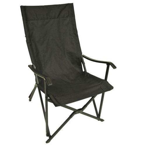 アディロンダック ADIRONDACK キャンパーズチェア ブラック [ファニチャー][折りたたみイス][椅子][収納ケース付]