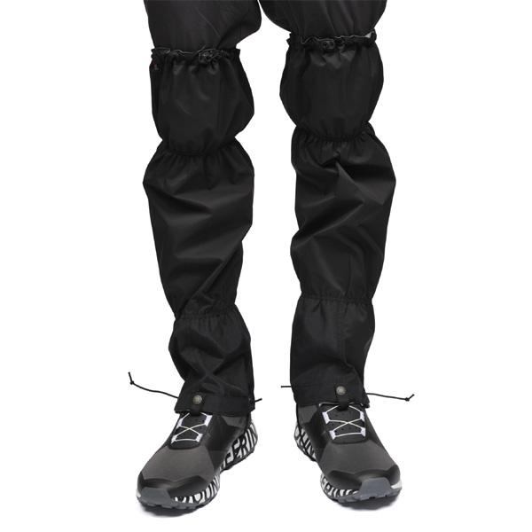 【あす楽対応 平日13:00まで】 アンドワンダー and wander event rain gaiter black 3サイズ [2018秋冬モデル][11/16 9:59まで ポイント10倍]