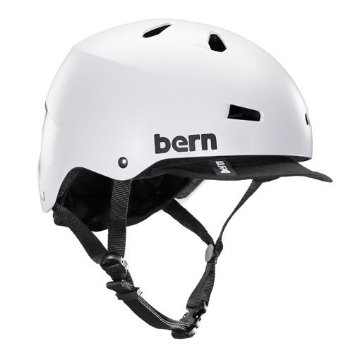 バーン Bern MACON VISOR Satin White [JAPAN FIT][ヘルメット][自転車][5/21 9:59まで ポイント10倍]