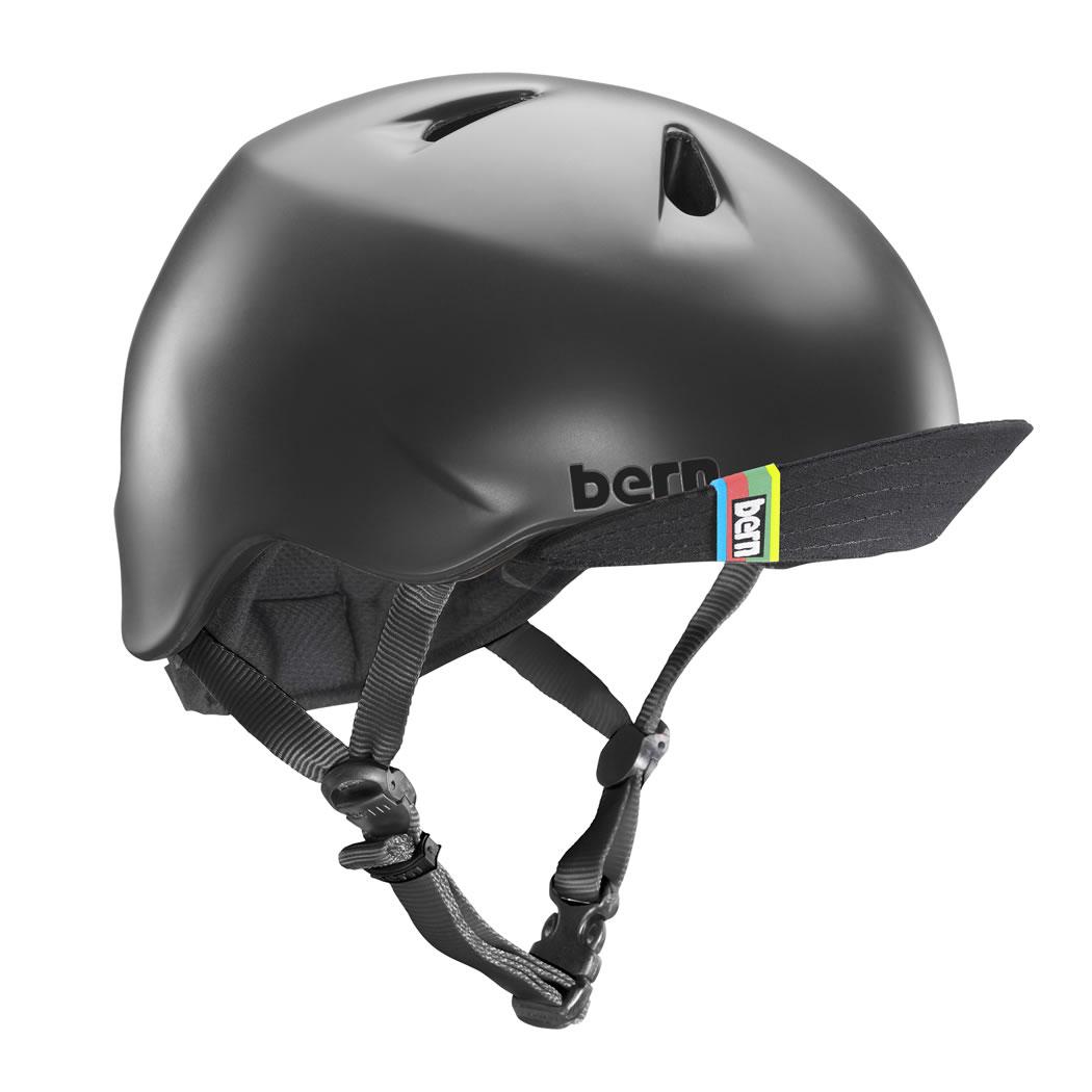 バーン Bern NINO(Visor付) Matte Black [キッズ][ヘルメット][自転車][子供用][BE-VJBMBKV-11]