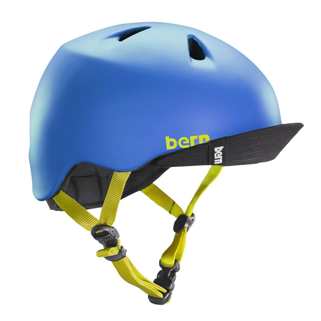 バーン Bern NINO(Visor付) Matte Blue [キッズ][ヘルメット][自転車][子供用][BE-VJBMBLV-11]