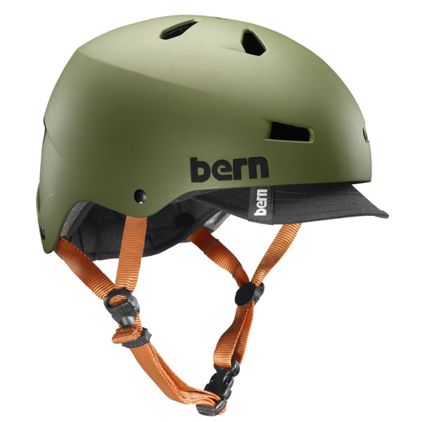 バーン Bern MACON VISOR MT OLIVE [メーコン][バイザー][オリーブ][サイクリング][ヘルメット]