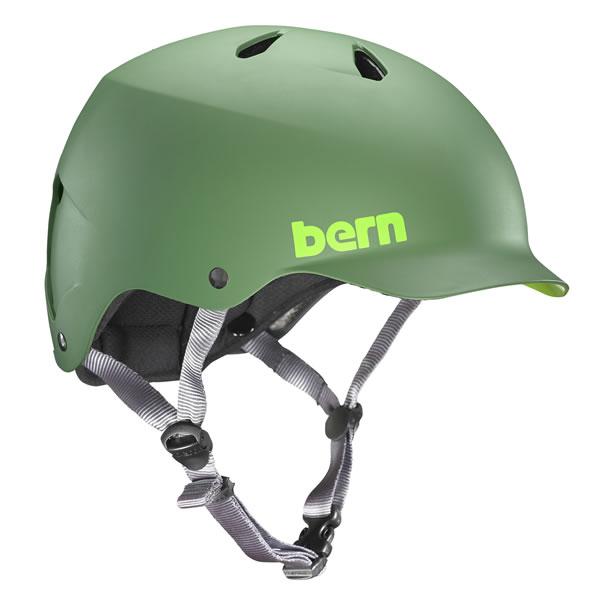 バーン Bern WATTS Matte Leaf Green [ヘルメット][ワッツ][自転車][バイク][スポーツ][メンズ][8/6 13:59まで ポイント10倍]