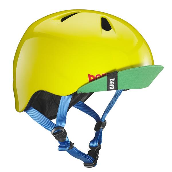 バーン Bern NINO Gloss Yellow Green [ヘルメット][子供用][キッズ][ニーノ][自転車][バイク][スポーツ][7/17 13:59まで ポイント10倍]