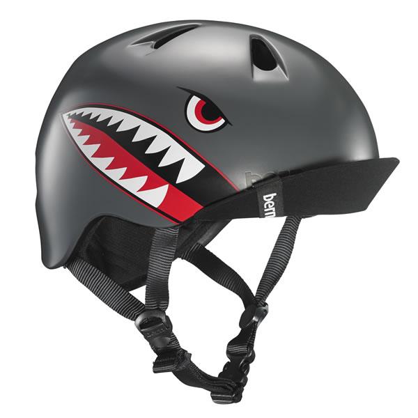 バーン Bern NINO Satin Grey Flying Tiger [ヘルメット][子供用][キッズ][ニーノ][自転車][バイク][スポーツ][7/17 13:59まで ポイント10倍]