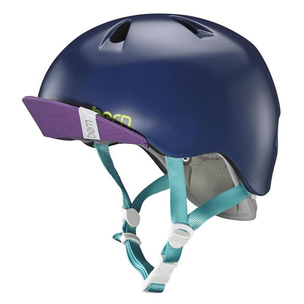 バーン Bern NINA Satin Navy Blue [ヘルメット][子供用][キッズ][ニーナ][自転車][バイク][スポーツ][11/19 9:59まで ポイント10倍]