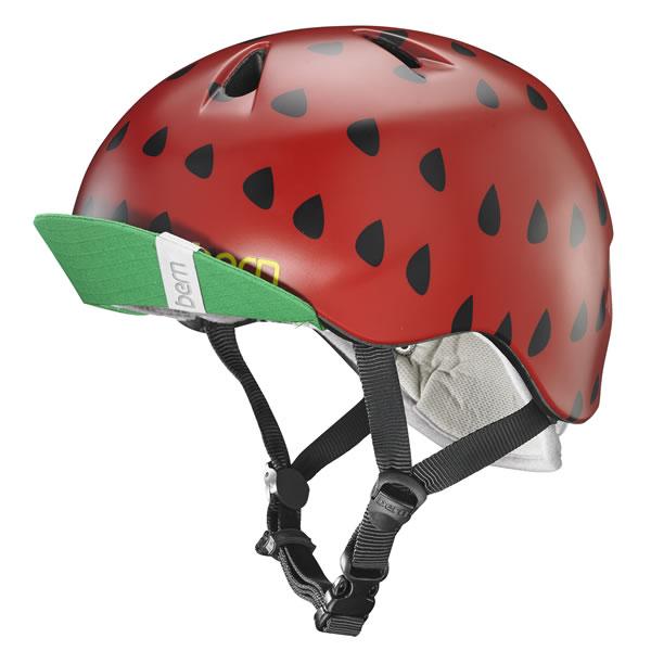 バーン Bern NINA Satin Red Strawberry [ヘルメット][子供用][キッズ][ニーナ][自転車][バイク][スポーツ][7/17 13:59まで ポイント10倍]