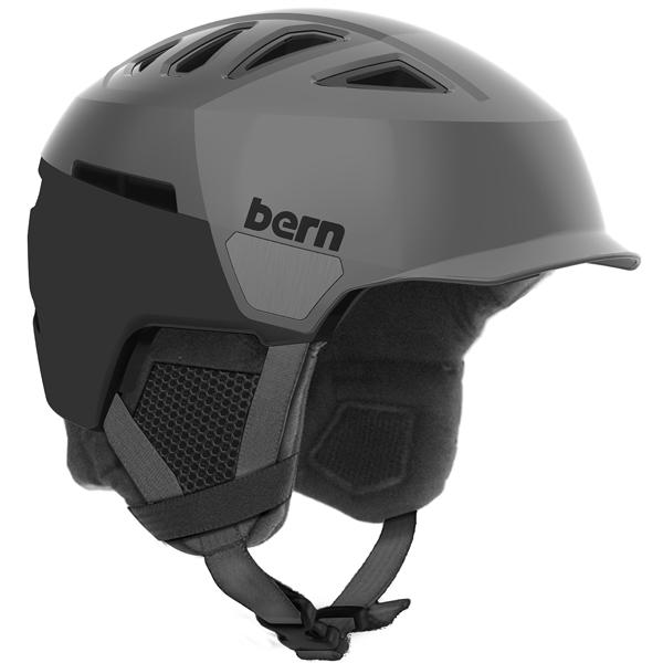 バーン Bern [Winter Model] HEIST MENS BRIM Satin Grey Hatstyle [ヘルメット][自転車][メンズ][8/6 13:59まで ポイント10倍]