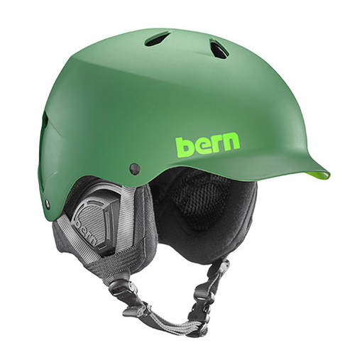 バーン Bern [Winter Model] WATTS Matte Leaf Green [ヘルメット][自転車][メンズ]