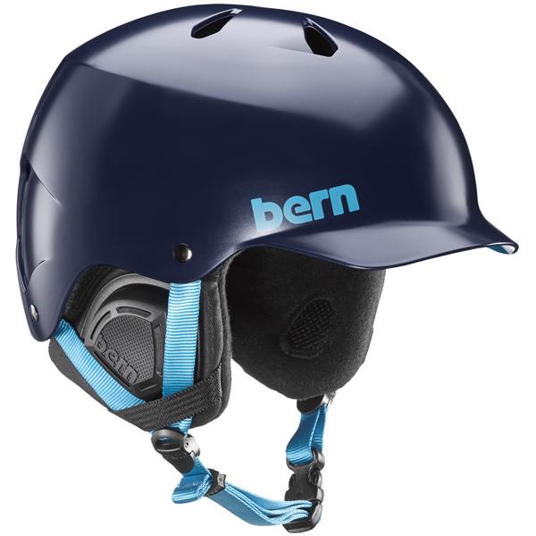 バーン Bern [Winter Model] WATTS Satin Navy Blue [ヘルメット][自転車][メンズ][7/17 13:59まで ポイント10倍]