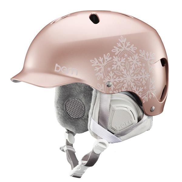 【vic2セール】 バーン Bern [Winter Model] LENOX Satin Rose Gold Snowflake [ヘルメット][自転車][レディース][女性用]