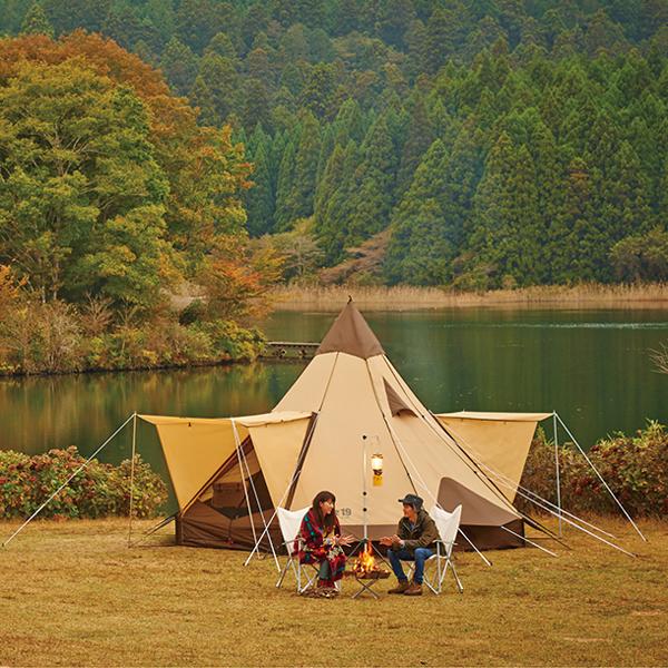 キャンパルジャパン CAMPAL JAPAN ピルツ19(10人用) ブラウン×サンド