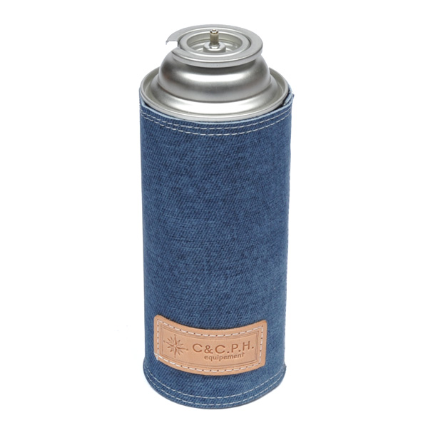 C&C.P.H EQUIPEMENT デニムレザーCB缶CASE BLUE