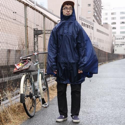 フェアウェザー FAIRWEATHER Packable Rain Poncho Navy [パッカブルレインポンチョ][雨具][自転車]