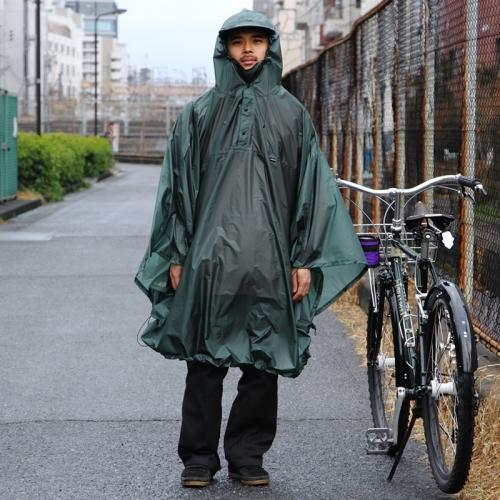 フェアウェザー FAIRWEATHER Packable Rain Poncho Algae [パッカブルレインポンチョ][雨具][自転車]