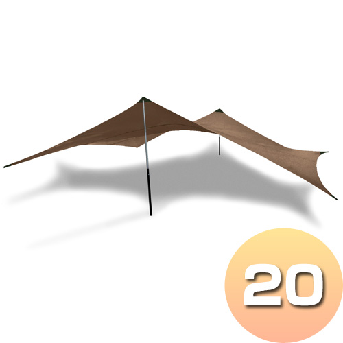 ヒルバーグ HILLEBERG タープ20 ウルトラライト サンド [フライシート][屋根][バーベキュー][キャンプ][日差しよけ]
