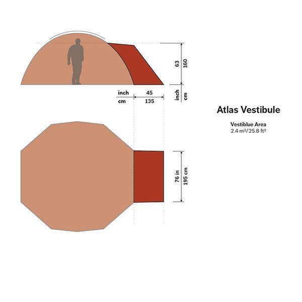 ヒルバーグ HILLEBERG New Atlas ベスタビュール グリーン [アトラス専用][前室を取り付けるためのパーツ]