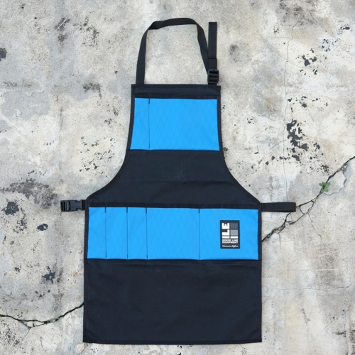 インサイドラインエキップメント INSIDELINEEQUIPMENT apron waxed black/x-pac cyan [エプロン][ワックスドブラック][シアン]