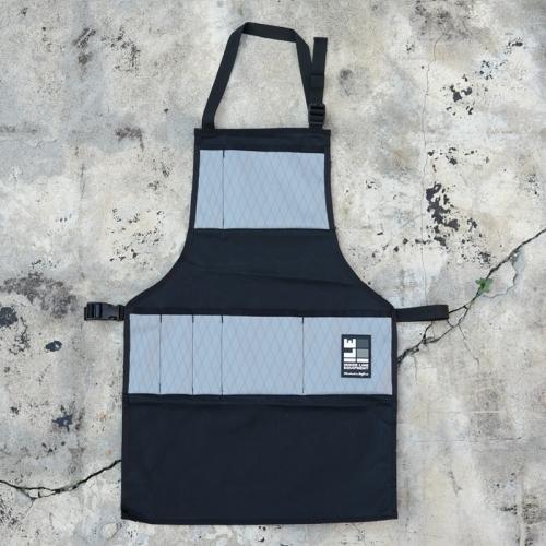 インサイドラインエキップメント INSIDELINEEQUIPMENT apron waxed black/x-pac grey [エプロン][ワックスドブラック][グレー]